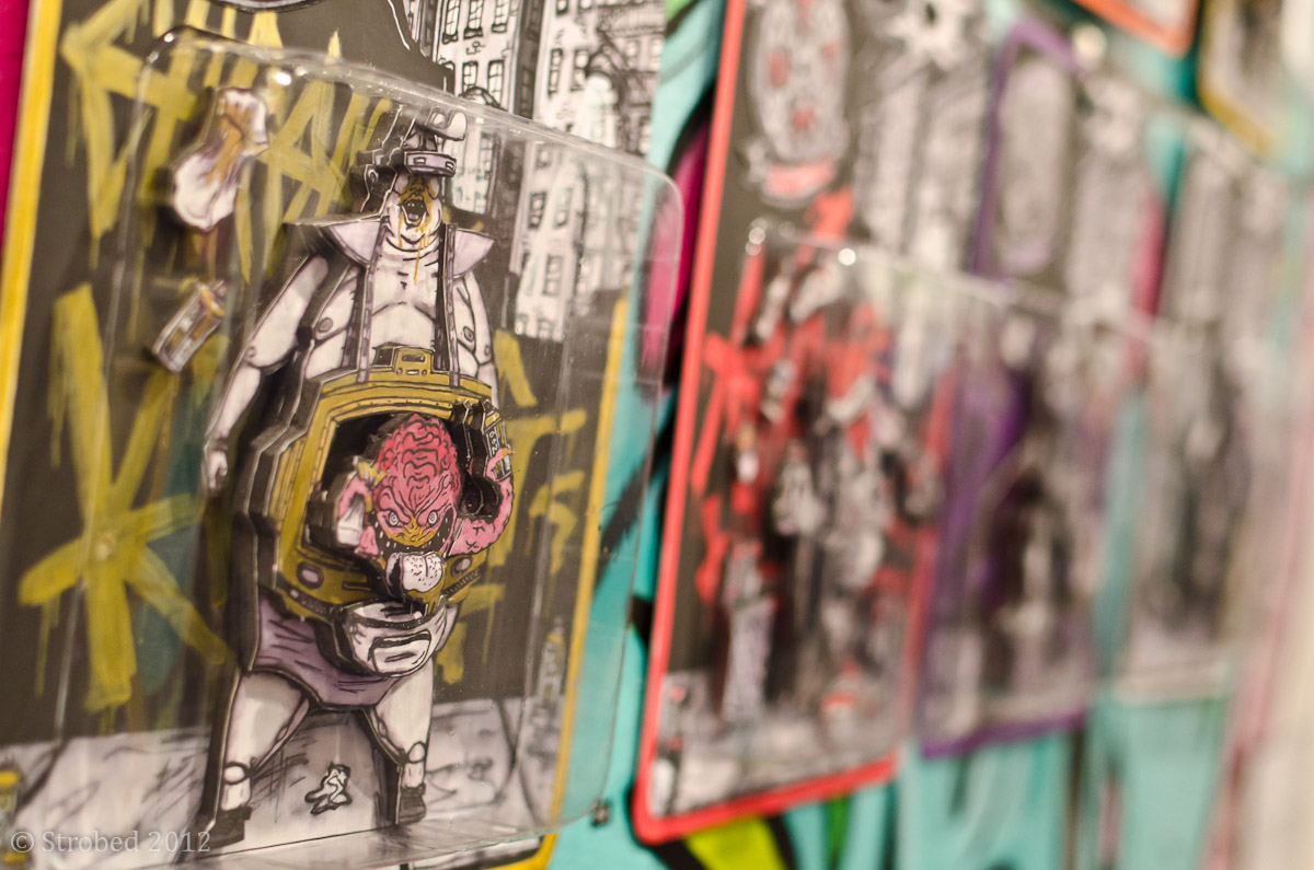 Artist OX's work involves 3D Ninja Turtle characters