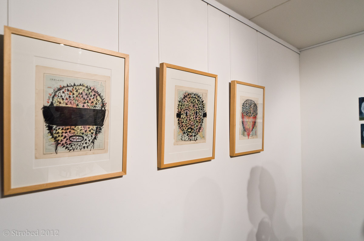 Jumaadi's artworks hanging DNA Projects art gallery